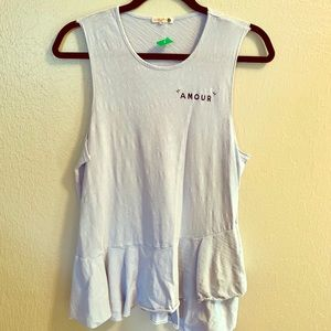 Amour T-shirt - Baby Blue, Nice Length, Adorable